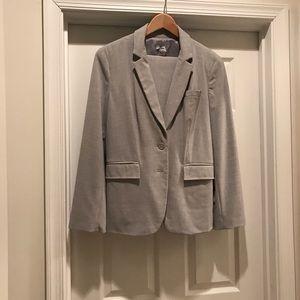 Worthington Heather Gray Skirt Suit